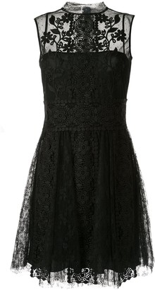 RED Valentino high neck lace dress