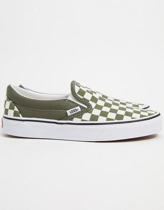 Vans Slip-On Checkerboard sneakers in grape