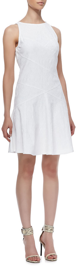 Derek Lam 10 Crosby Diagonal-Seams Sleeveless Dress