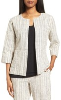 Eileen Fisher Women's Organic Cotton Round Neck Jacket