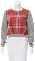 Markus Lupfer Plaid Crew Sweatshirt
