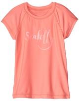 Seafolly Summer Essentials Short Sleeve Rashie (Little Kids/Big Kids)
