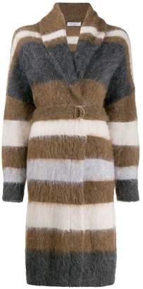 Brunello Cucinelli textured cardigan coat