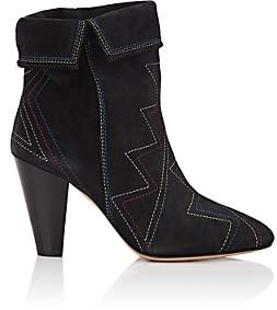 Isabel Marant Women's Darilay Suede Ankle Boots-Black