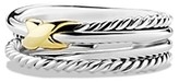 Thumbnail for your product : David Yurman X Crossover Ring with 18K Gold
