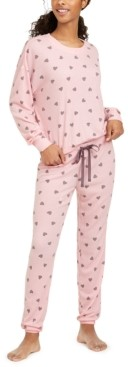 Jenni Printed Thermal Knit Pajamas Set, Created for Macy's