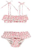 Lison Paris Camelia Floral 2 Piece Bandeau Swimsuit