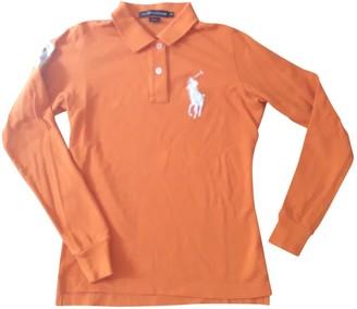 Polo Ralph Lauren Orange Cotton Top for Women