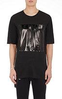 Helmut Lang Men's Coated-Logo Cotton-Blend T-Shirt-BLACK