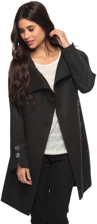 Forever 21 Large Collar Wool Coat