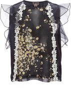 Giambattista Valli Sleeveless Daisy Georgette Top