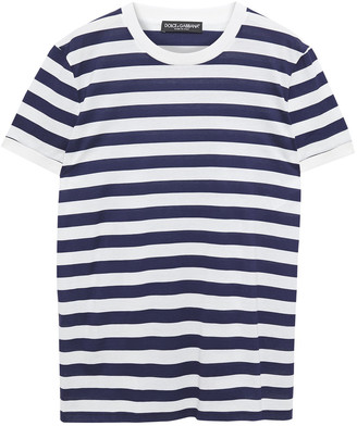 Dolce & Gabbana Striped Cotton-jersey T-shirt