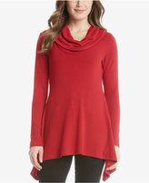 Karen Kane Cowl-Neck Handkerchief-Hem Sweater