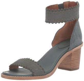 Frye Women's Brielle Scallop Back Zip Heeled Sandal