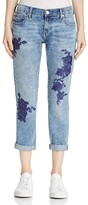 True Religion Cameron Embroidered Boyfriend Jeans in Aquarius Blues