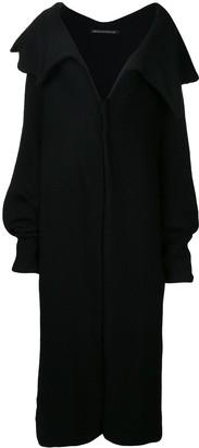 Yohji Yamamoto Pre-Owned fold-over neck coat