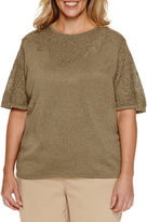 Alfred Dunner Crew Neck Pullover Sweater - Plus