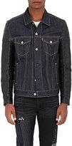 Junya Watanabe Man Comme des Garçons Men's Denim & Faux-Leather Jacket