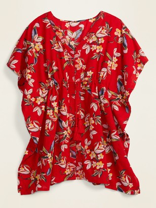 Old Navy Gauze Button-Front Caftan Swim Cover-Up for Women