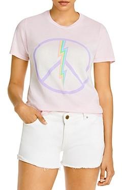 Aqua Lauren Moshi x Electric Peace Print Tee - 100% Exclusive