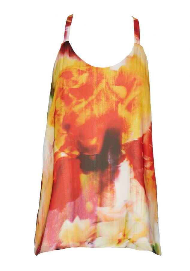 Alice + Olivia Loma Waterfall Drape Back Tank