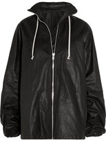 Rick Owens Waxed-leather Jacket - Black