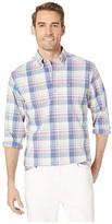 Southern Tide Riverbank Plaid Sports Shirt (Marshmallow) Men's Clothing
