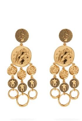 Chloé Emoji Femininities Chandelier Drop Earrings - Womens - Gold