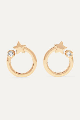 Andrea Fohrman Shooting Star 14-karat Gold Diamond Earrings - one size