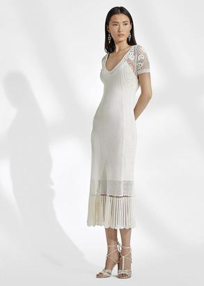 Ralph Lauren Crocheted Silk Dress