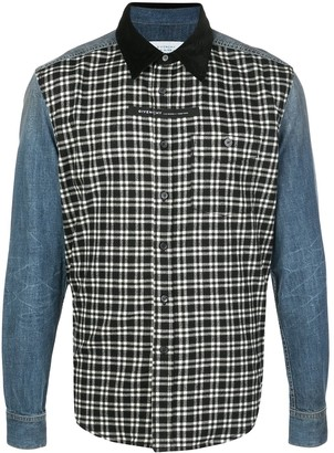 Givenchy Address panelled denim shirt