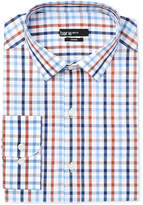 Bar III Men's Slim-Fit Rust Multi Color Check Dress Shirt, Created for Macy's