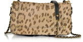 Jerome Dreyfuss Bobi Leopard Printed Haircalf Shoulder Bag