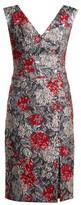 Erdem Joyti Rose-jacquard Dress - Womens - Red Multi