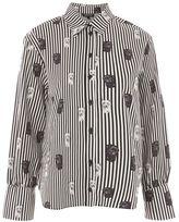 Topshop Pug print stripe shirt