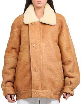 COOL T.M Brown Shearling Coat