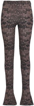 Roberto Cavalli Printed Jersey Flared Pants