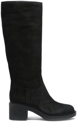 Gianvito Rossi Hynde 45 Suede Knee-high Boots - Black