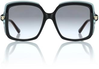 Cartier Eyewear Collection Panthere de Cartier oversized sunglasses