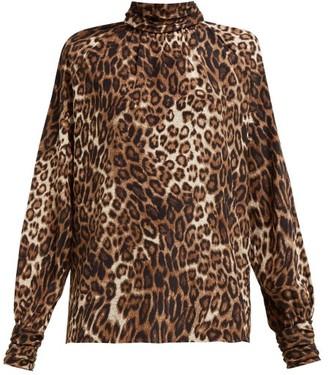 Nili Lotan Alana Leopard-print Silk Shirt - Womens - Leopard