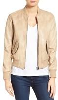 Women's Lamarque Lambskin Leather Bomber Jacket