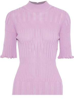 Carolina Herrera Ribbed-knit Turtleneck Top