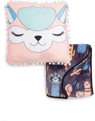 Under One Sky Alpaca Throw & Pillow Set