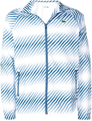 Lacoste Faded Striped Bomber Jacket