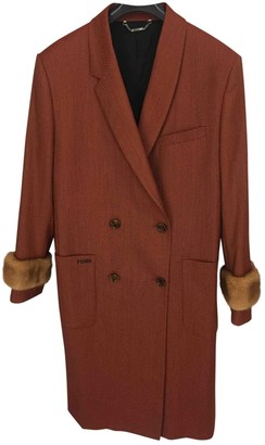 Fendi Brown Wool Coat for Women