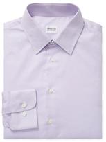 Armani Collezioni Solid Spread Collar Dress Shirt