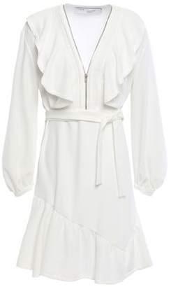 IRO Hopeful Zip-detailed Ruffled Stretch-crepe Mini Dress