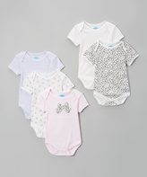Bon Bebe Pink & White Cheetah Bodysuit Set - Infant