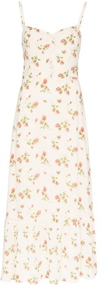 Reformation Emersyn floral-print slip dress