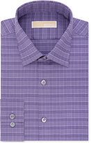 MICHAEL Michael Kors Men's Fitted Purple Check Dress Shirt